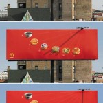 billboard mcdonalds solar clock