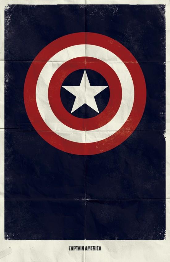 Minimal Marvel Poster Captain America