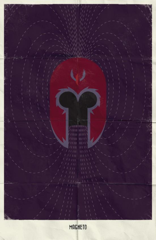 Minimal Marvel Poster Magneto