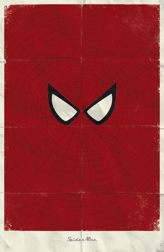 Minimalist Marvel Posters Spiderman